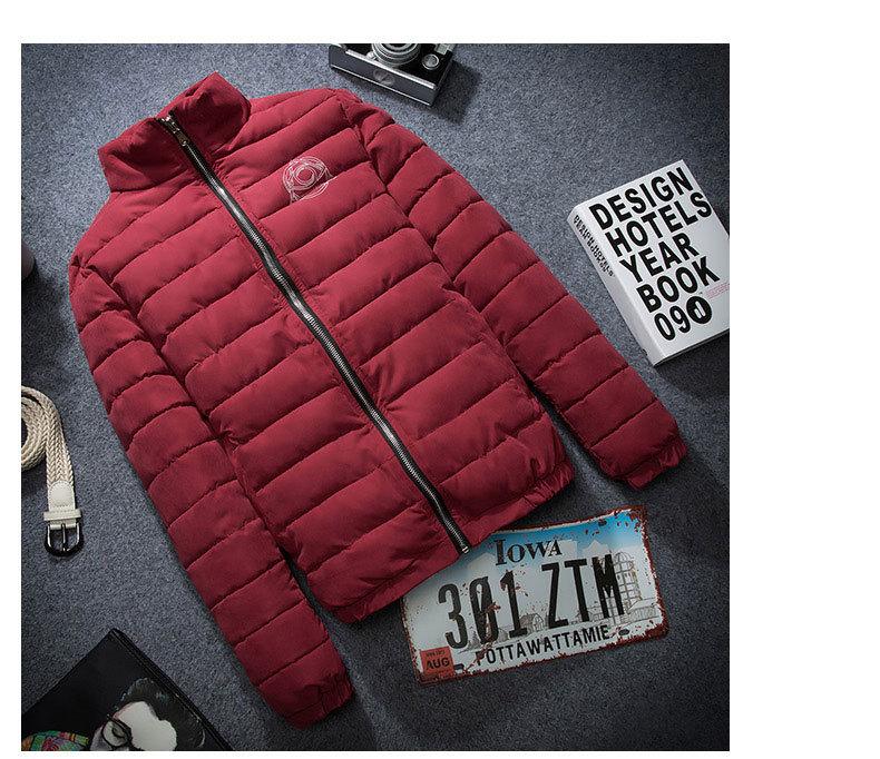 Скидки на Зимние новые люди Корейский Тонкий стенд воротник мужской случайные теплый мягкий мужской пуховик и парки плюс размер
