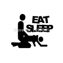 JDM Eat Sleep Sex Vinyl Funny Cool Graphic Sticker For Car Truck Window Bumper Auto SUV Door Motorcycle Helmet Ship Wall Decal(China (Mainland))