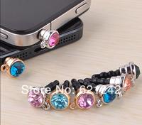 New Item DIY Rhinstone Dust Plugs Mobile Phone Accessories Jewelry Anti Dust Cap Wholesale XZ035 Free Shipping
