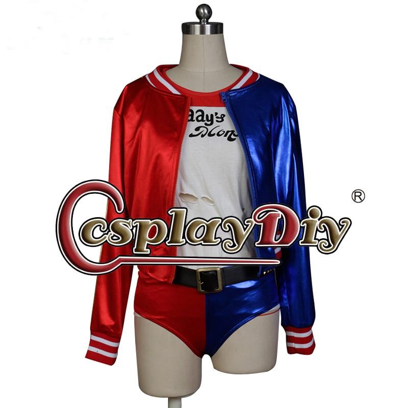 Batman Suicide Squad Harley Quinn Cosplay Jacket Adult Women Halloween DC Comics Costume Custom Made D101