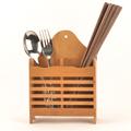 Classic Natural Bamboo Kitchen Organizer Spoon Chopsticks Fork Storage Rack Tableware Rangement Cuisine Box Wood Holder