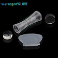 Double end Nail Art Stamper Pure Clear Jelly Silicone Nail Art Stamper Scraper 2 4cm 2