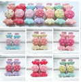 6 Pcs lot Cute Hair Clip Kids Girl Candy Color Hairpin Hair Accessories Resin Princess Barrettes