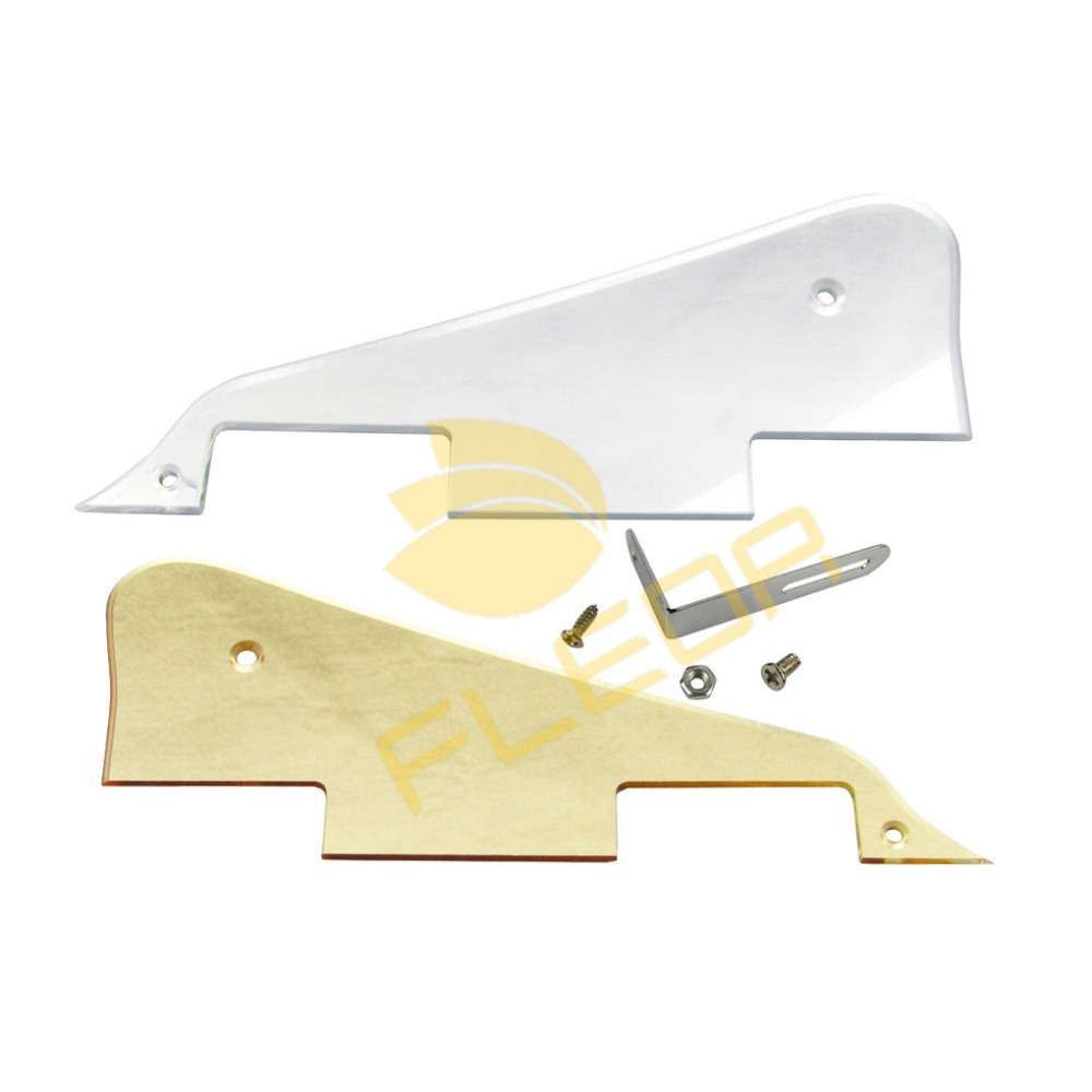 2pcs LP Style Electric Guitar Pickguard 3 Ply with Bracket with Screws,Silver Mirror and Golden Mirror(China (Mainland))