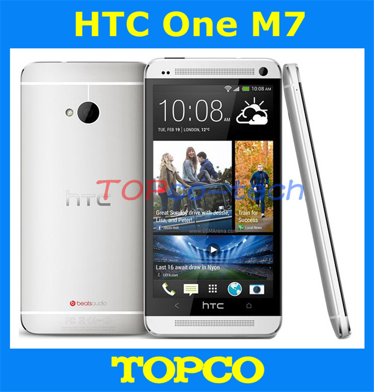 "Original HTC One Unlocked Android phone GSM 3G&4G Quad-core ONE M7 32GB Mobile Phone 4.7"" 4MP WIFI GPS dropshipping(China (Mainland))"