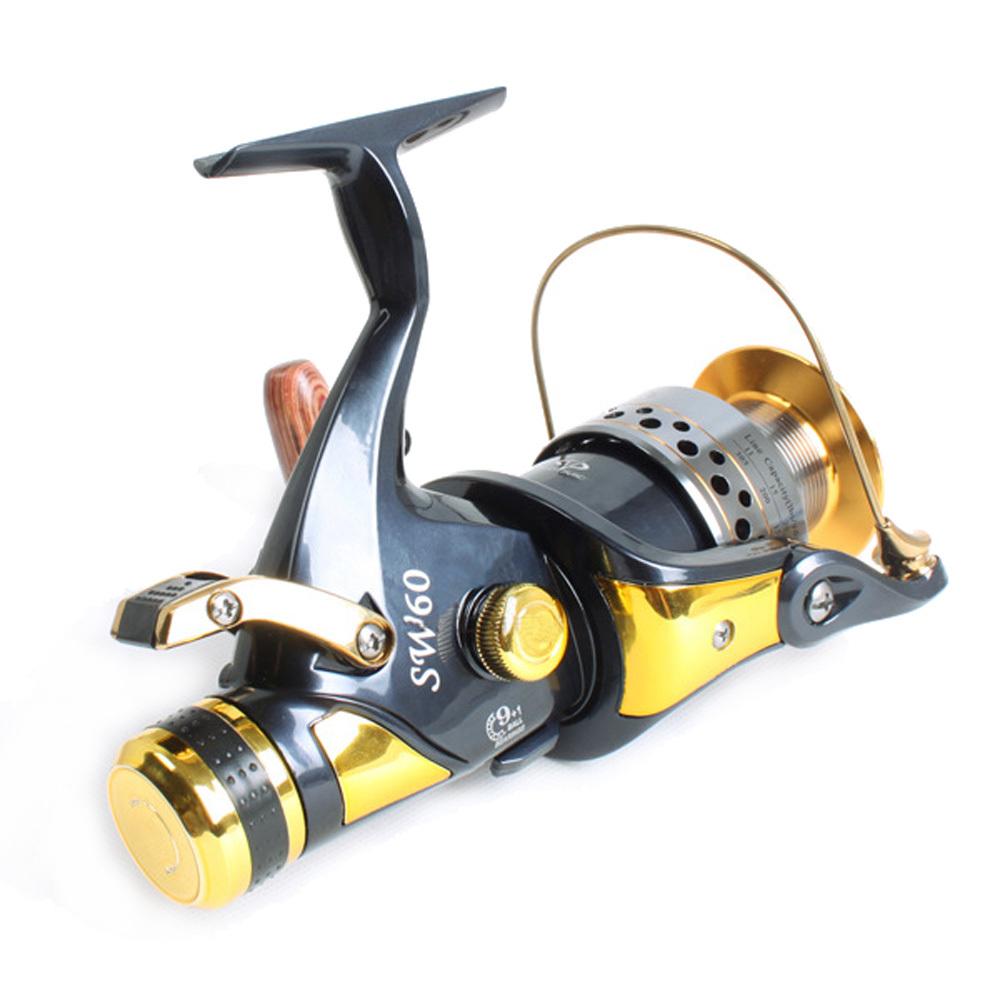 FREE SHIPPING Handbrake fishing Reel Brake Wheel carp fishing reels full metal 9+1BB spinning wheels fit for sure rods 5041(China (Mainland))
