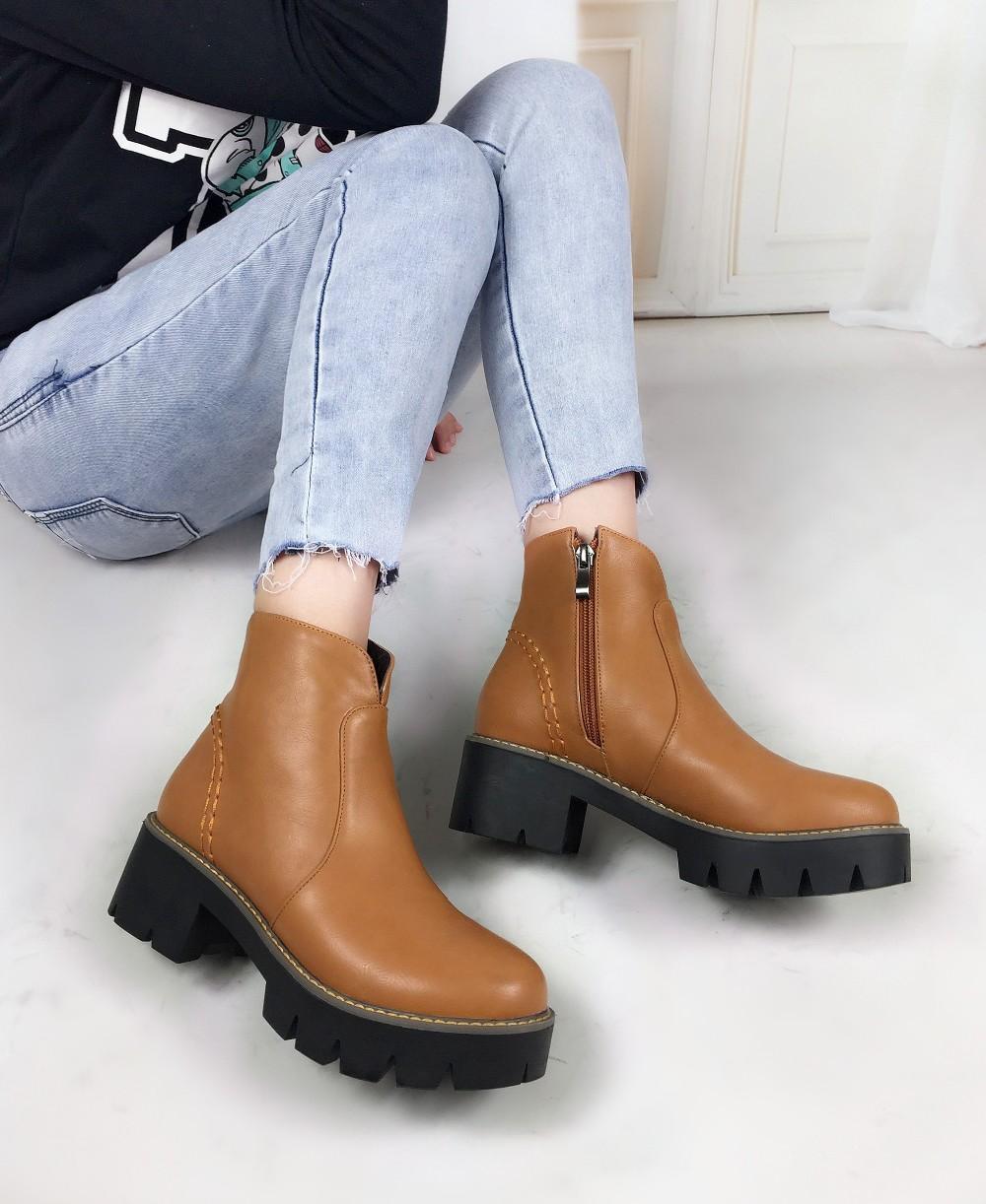 Moda 2016 de la moda otoño Martin Botas botines zapatos de cuero de la pu negro Marca Dr Diseñador Motorcycle Boots Plus size 34-43
