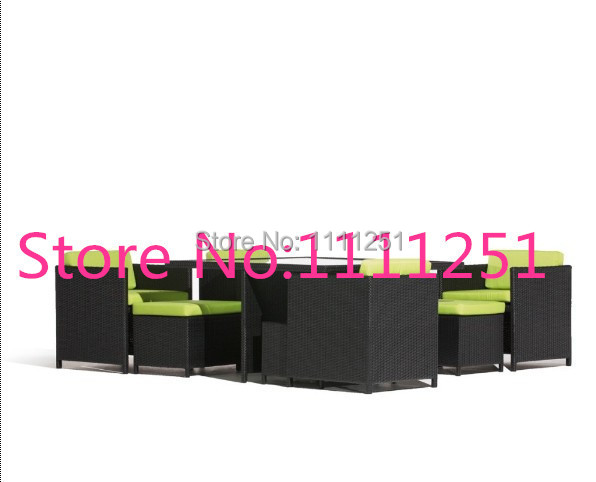 Aluminium outdoor PE rattan furniture cafe sets(China (Mainland))