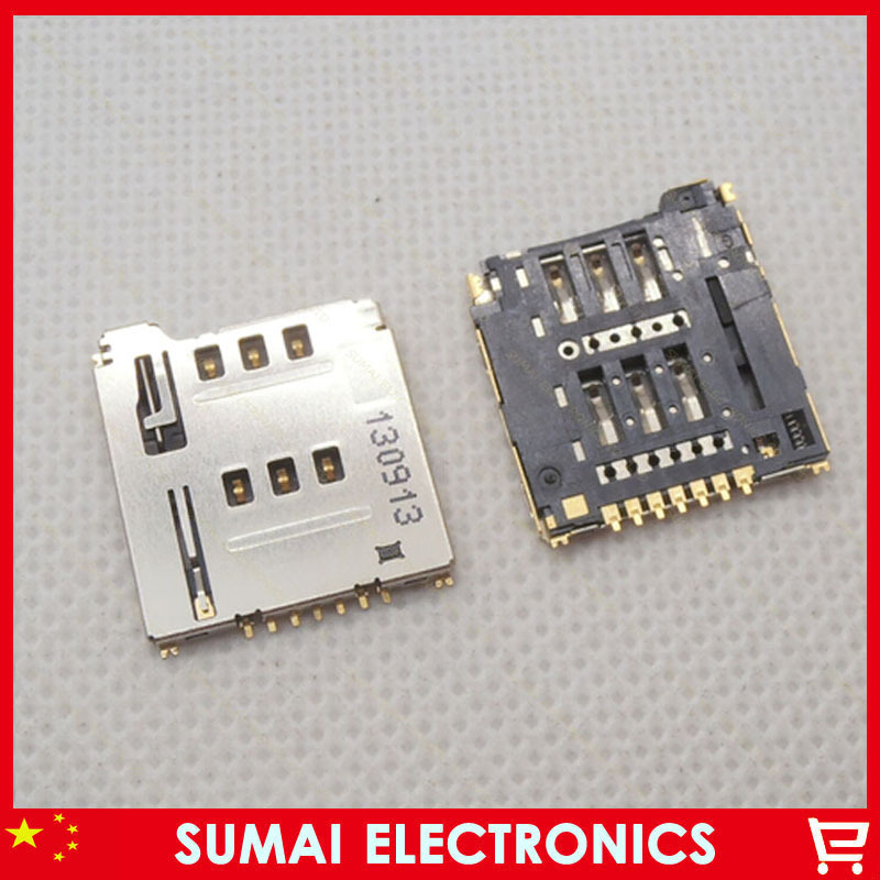 10pcs/lot Small 7P SIM Card Holder Socket Memory Card Connector Sim Card Slot