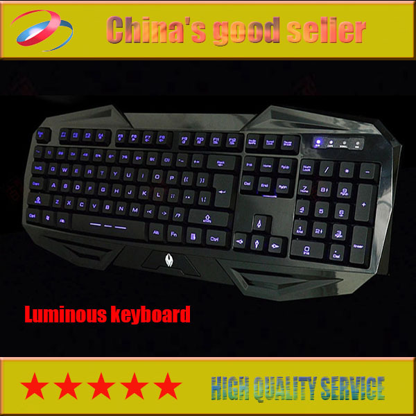 2015 napusi blue Backlit keyboard USB cable shine the game keyboard Mechanical keyboard(China (Mainland))