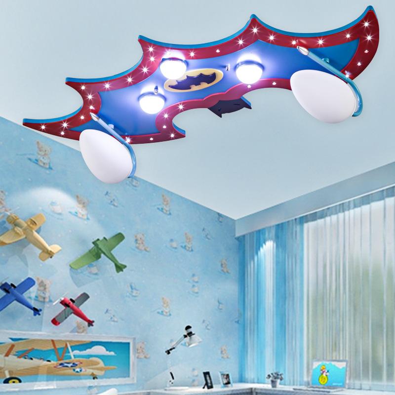 Creative energy-saving eye cartoon child Batman light boys and girls bedroom childrens room led ceiling lamp with light<br><br>Aliexpress
