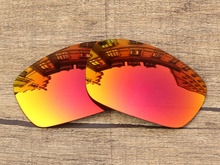 Polycarbonate-Fire Red Mirror Replacement Lenses For Jawbone Sunglasses Frame 100% UVA & UVB Protection
