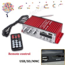 NEW 12V MA120 mini USB Car auto vehicle Motorcycle Amplifier Digital MP3 Player FM Radio 2ch output power amplifier 20WX2(China (Mainland))