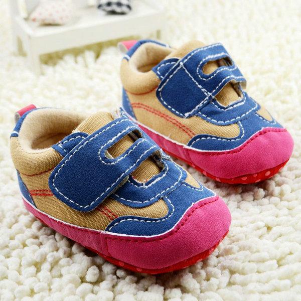 Cute Unisex Baby Orange Soft Sole Casual Slip On Crib Shoes Medium Prewalkers(China (Mainland))