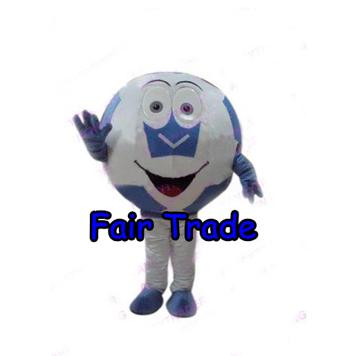 Best Price Blue Soccer Football Mascot Costume World Cup Soccer Ball Fancy Dress Cartoon Outfit Suit EMS Free Shipping SW155(China (Mainland))
