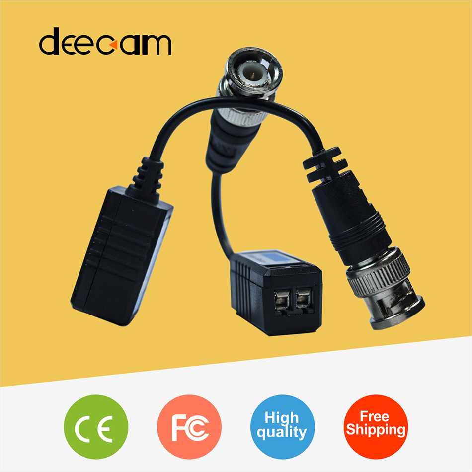 Deecam CCTV video balun in CCTV Accessories RJ45 bnc connector Single Passive twisted pair transmitter cctv adapter(China (Mainland))