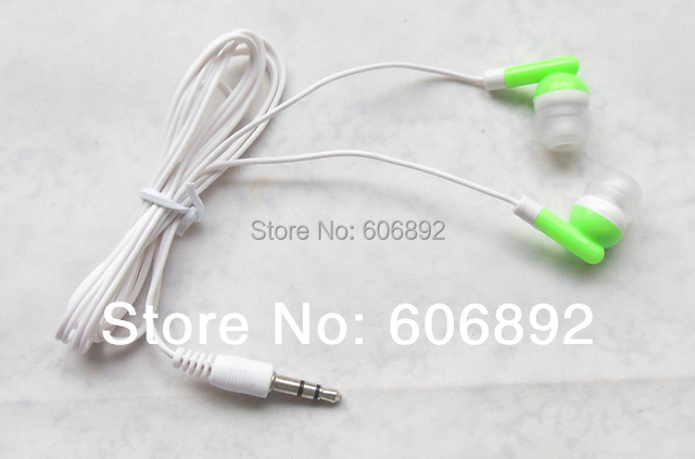 Wholesale 50pc/lot In-ear earphones headphones headsets for Mp3 MP4 MP5 PSP