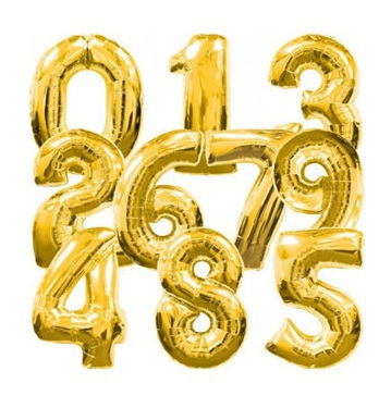 50pcs 32Inch 0-9 Digital Gold and Silver Foil Balloons Numbers Birthday Party Modelling birthday party wedding novelty(China (Mainland))
