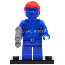 Marvel Super Heroes Raven Mystique Minifigures Single Sale Building Blocks X-Men Sets Model Bricks Toys Figures