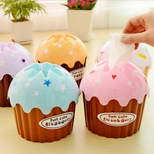 1Pcs Lovely Adorable Ice Cream Cupcake Tissue Box Towel Holder Paper Container HOT Dispenser Cover Home Decor(China (Mainland))