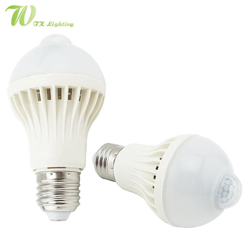 Led Pir Motion Sensor Bulb 5w 7w 9w Induction Bulb Cool White Warm White Auto Smart Led Lighting