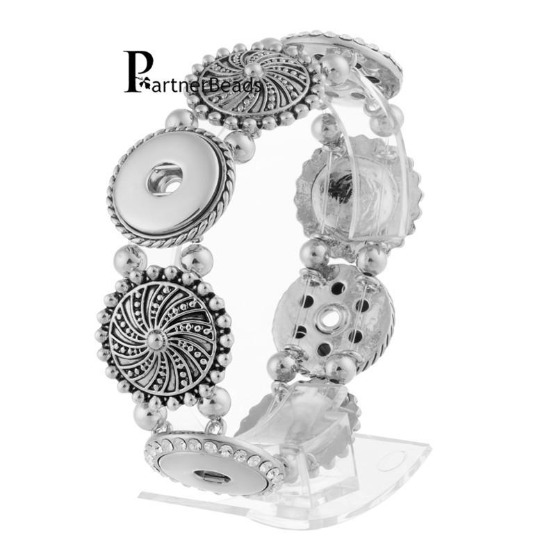 Interchangeable Bangle18mm Snap Button Bracelet Ginger Jewelry Charm Bangles Partnerbeads KB0209 - Yiwu Co.,Ltd. store