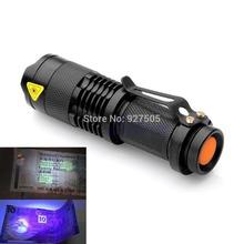 2015 newest Mini Portable UV Ultra LED Flashlight Violet Purple Blacklight Torch Lamp Light free shipping(China (Mainland))
