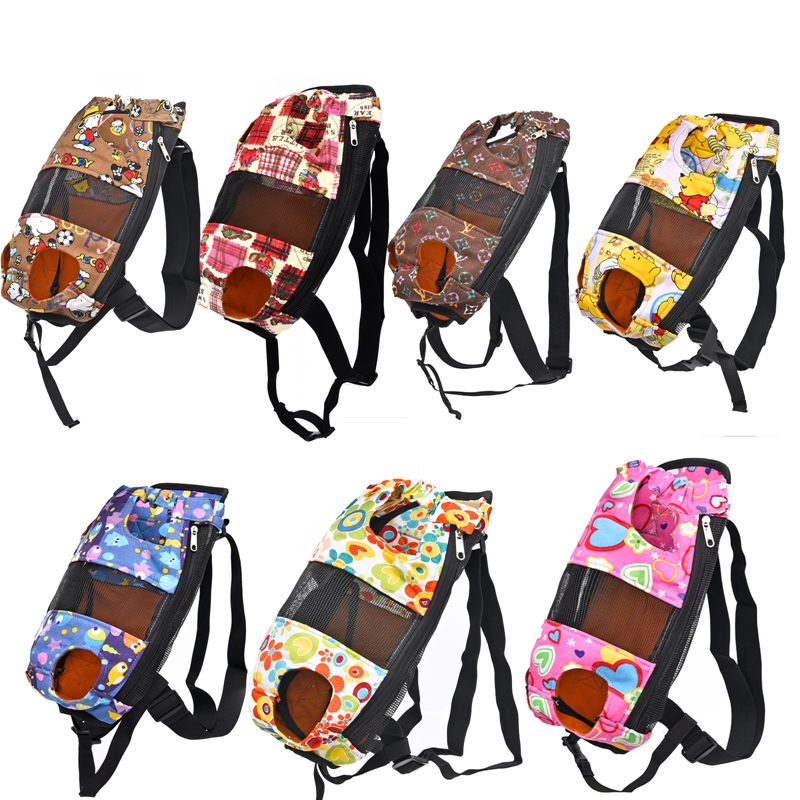 Funny Pet Backpacks Dog Cat Bag Product Double Shoulder Adjustable Cute Lovely Pattern Puppy Carrier Traveling Free Shipping(China (Mainland))