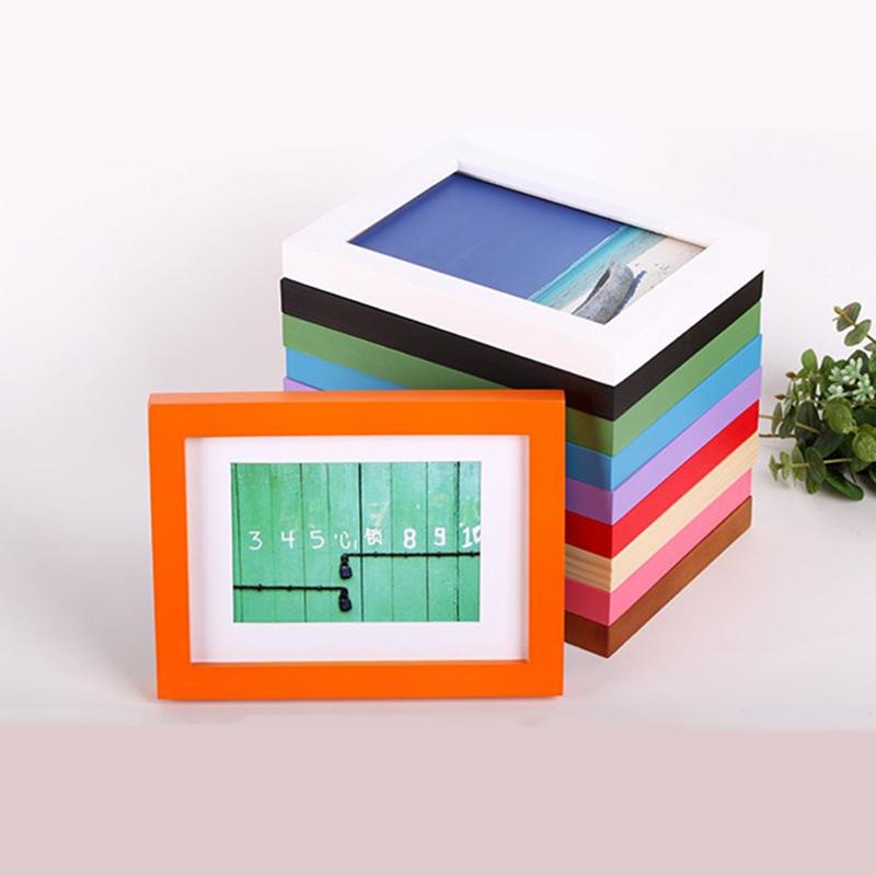 2016 New Picture Frames Moldura Marcos De Fotos Wood Frame Inch Studio Wall Swing Sets For Photo(China (Mainland))