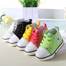 2016 Spring Fashion Star Shoes Baby Shoes Children's Boys Girls Solid Colors Canvas Shoes Kids Sports Sneakers Toddler Boots