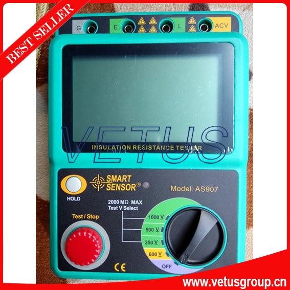 AS907 Digital insulation tester with voltage range 250V / 500V / 1000V<br><br>Aliexpress