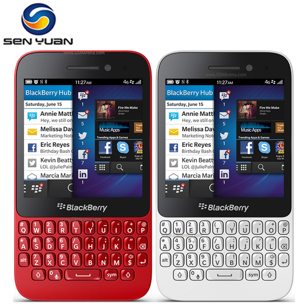 Original Unlocked Blackberry Q5 MobilePhone 5.0MP Dual core 2GB RAM 8GB ROM 3G WIFI GPS q5 cell phone(China (Mainland))