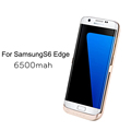External Backup Battery Power Case for Samsung Galaxy S6 edge 6500mah Portable Charger Charging Cover