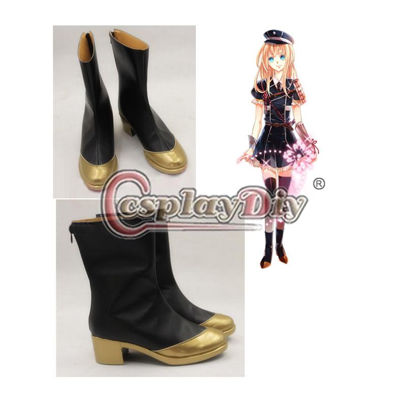 Touken Ranbu Midaretoushirou Cosplay Shoes Carnival The Sword Dance Anime Cosplay Boots Custom Made D0611(China (Mainland))