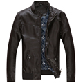 jaqueta de couro masculina men leather jacket fur coat middle aged leather PU jacket coat stand
