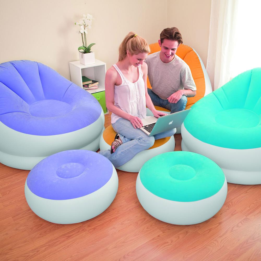 Ec 68572 ec inflatable sofa flocking single waterproof - Pouf piscine waterproof ...