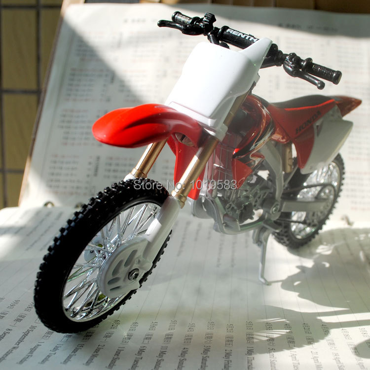 Brand New Cool 1/12 Scale HONDA CRF 450R Motorcycle Diecast Metal Motorbike Model Toy For Gift/Collection/Kids/Children(China (Mainland))