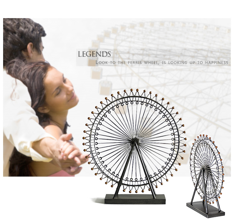 Free shipping European style antique metal craft iron windmill handicraft Ferris wheel wedding gift home decoration