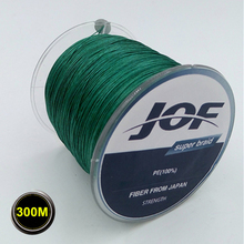 4STRANDS 300m JOF Brand Super Strong Japan Multifilament PE Braided Fly Fishing Line Rope Cord Carp Fishing Boat Line 10-100LB(China (Mainland))