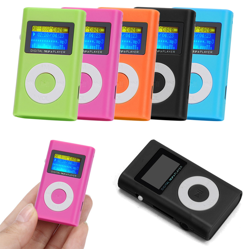 2016 New Updated USB Mini MP3 Player LCD Screen Good Sound Quality Support 32GB Micro SD TF Card Long Time Play #ED(China (Mainland))