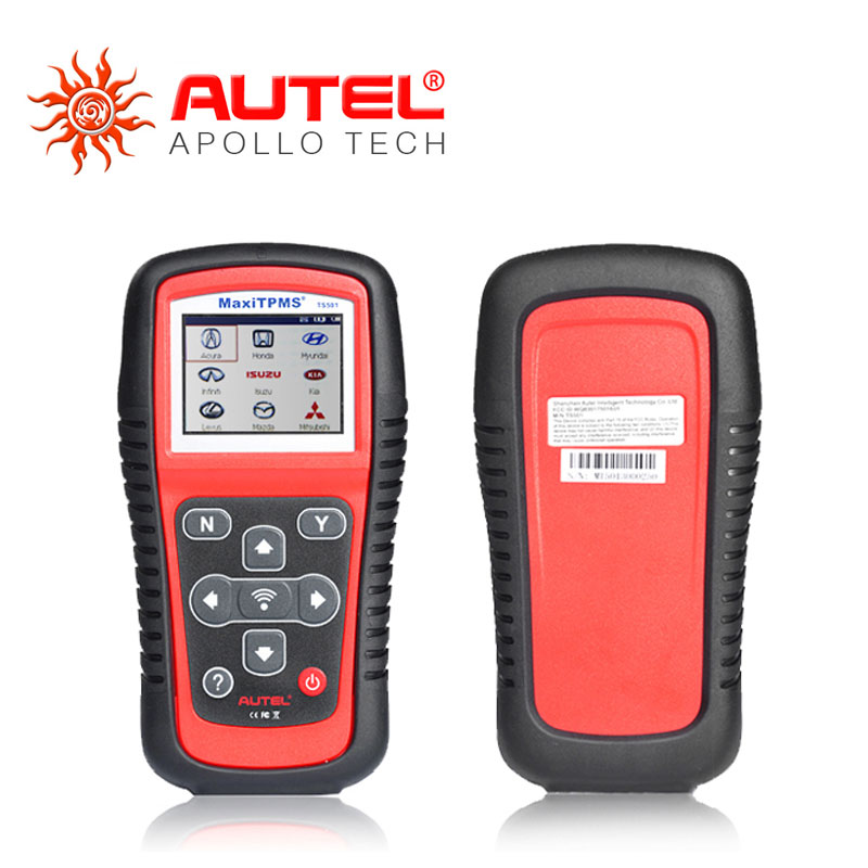 For All Vehicle Tire Pressure Monitoring System Autel MaxiTPMS TS501 TPMS Tool with OBDII Adapters DHL Free Shipping(China (Mainland))