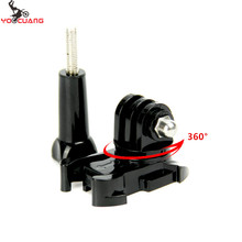 Buy YOOCUANG Go pro accessories 360 Degree Rotate Buckle Base Vertical Surface Mount Adapter GoPro Hero 4 3+2 YX203 for $1.09 in AliExpress store