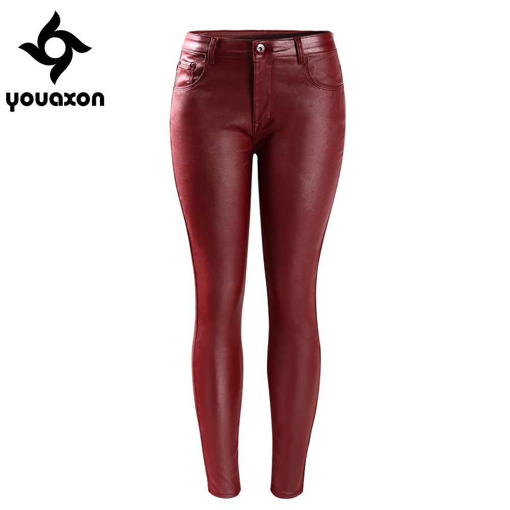 Dark Red Jeans Womens Skinny - Jeans Am