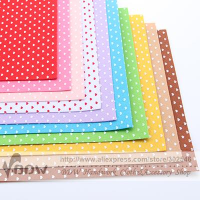 100% Polyester Nonwoven Felt Fabric Print Mickey DIY Felt Fabric Pack 1MM Thick 10 pcs/lot N-10A(Hong Kong)
