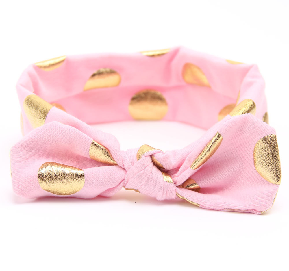 Gold Baby Cotton Headband Girls Knotted Head Wraps Jersey Knit Headwraps Gold Headband for Newborn Infant Hair Accessories(China (Mainland))