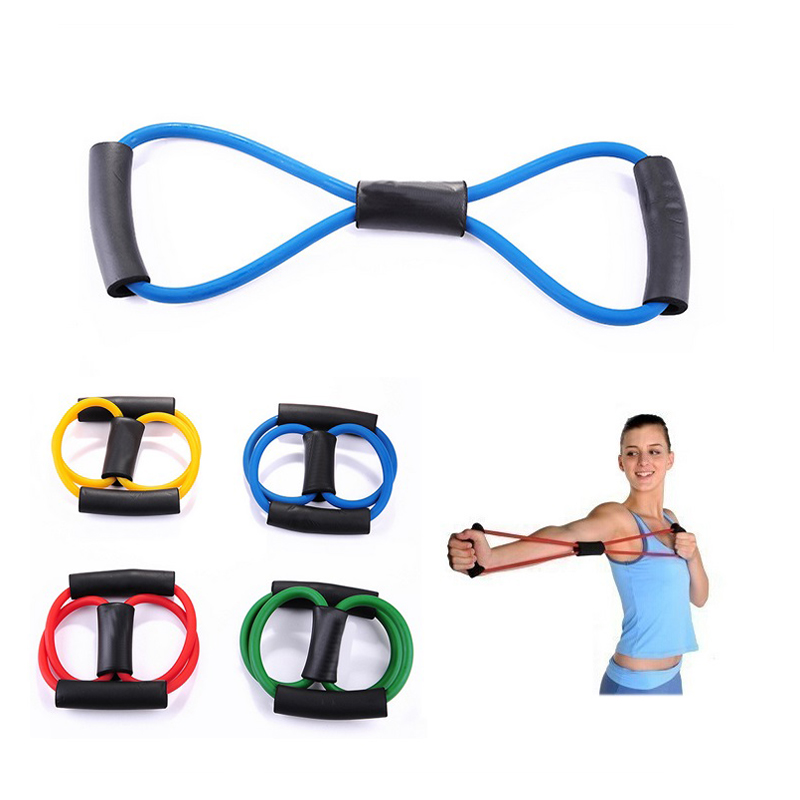 High Elastic 39cm Fitness Resistance Bands Resistance Rope Exerciese Tubes Elastic Exercise Bands For Yoga Pilates Workout(China (Mainland))