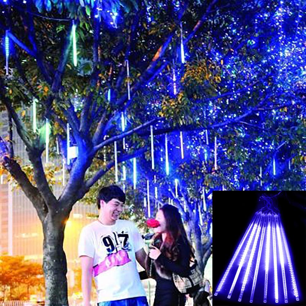30cm Meteor Shower Rain Tubes Christmas Lights Led Lamp 100-240V Outdoor Holiday Light New Year Decoration 8pcs/set ZK62(China (Mainland))