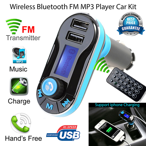 Hot Wireless Bluetooth FM Transmitter MP3 Player Car Kit Charger for iPhone Samsung(China (Mainland))