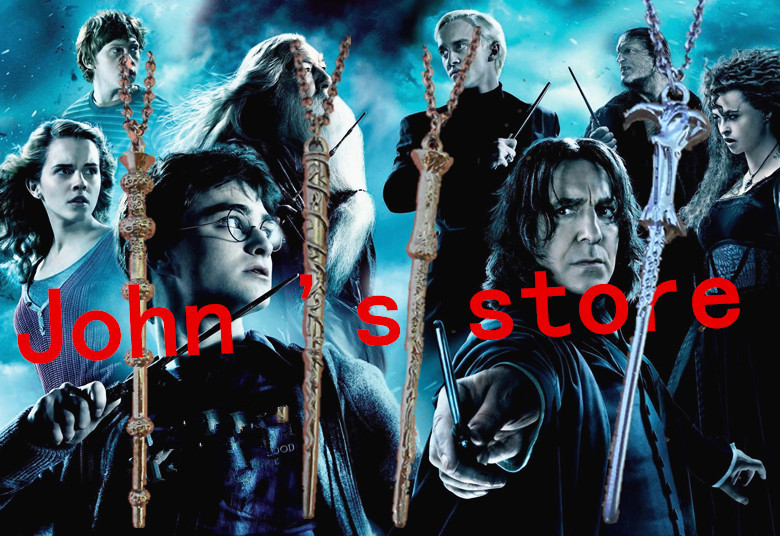 Freeshipping wholesale 40PC a lot Harry potter The wand of necklace Harry Potter mix diff  HU6ANG05<br><br>Aliexpress