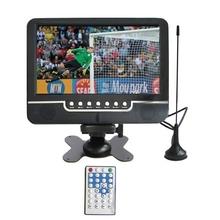 9.5 pulgadas color TFT LCD TV Analógica con amplio ángulo de visión de Soporte disco Flash USB de Tarjetas SD MMC AV IN/AV Out función de Radio FM al aire libre